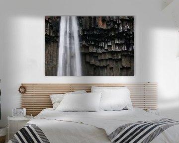 Svartifoss waterval in Skaftafell, IJsland sur Martijn Smeets