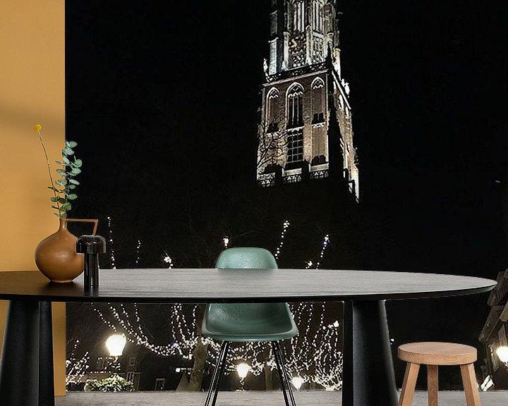 Sfeerimpressie behang: Amersfoort by night van Daniel Chambers