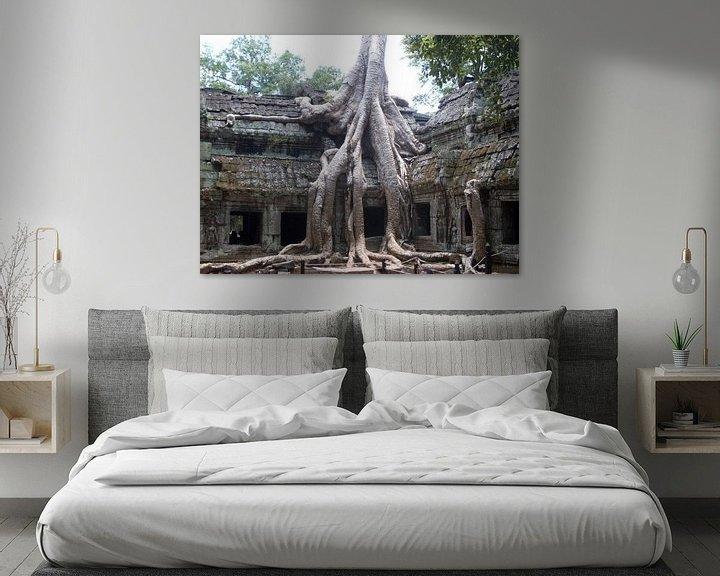 Sfeerimpressie: Tree growing through Angkor Thom van Daniel Chambers