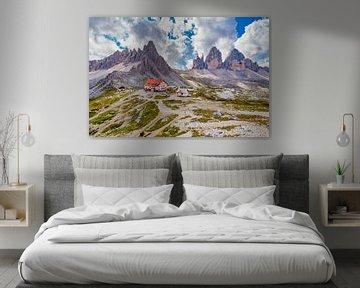De Drei Zinnen in de Dolomieten in Italië - 2 van Tux Photography