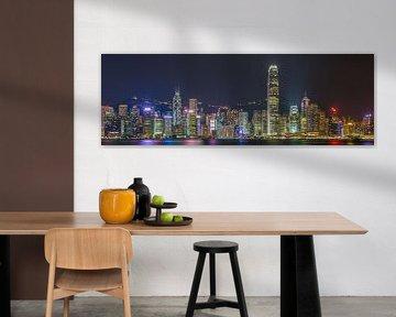 Hong Kong by Night - Skyline by Night - 1 van Tux Photography