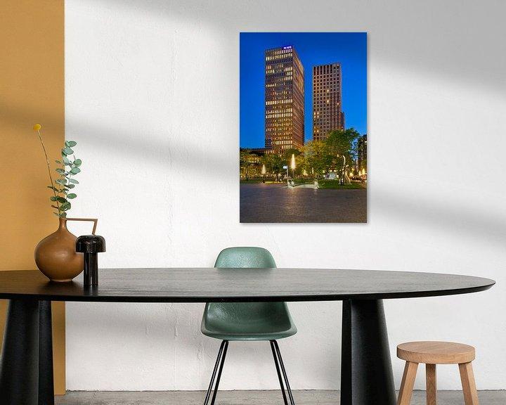 Sfeerimpressie: Symphony torens @night Amsterdam van Anton de Zeeuw