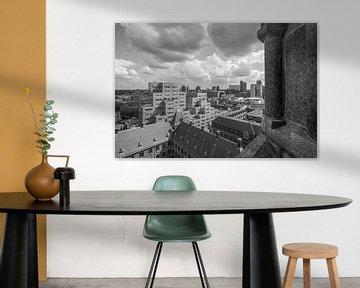 Het Stadhuis, Markthal en het Timmerhuis in Rotterdam van MS Fotografie | Marc van der Stelt