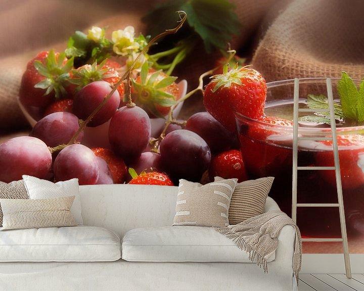 Beispiel fototapete: Gesunder Früchte Mix für die Wand von Tanja Riedel