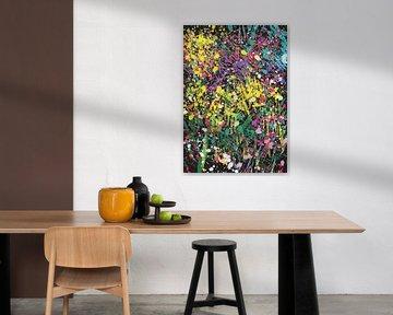 Blumenbeet abstrakt von Go van Kampen