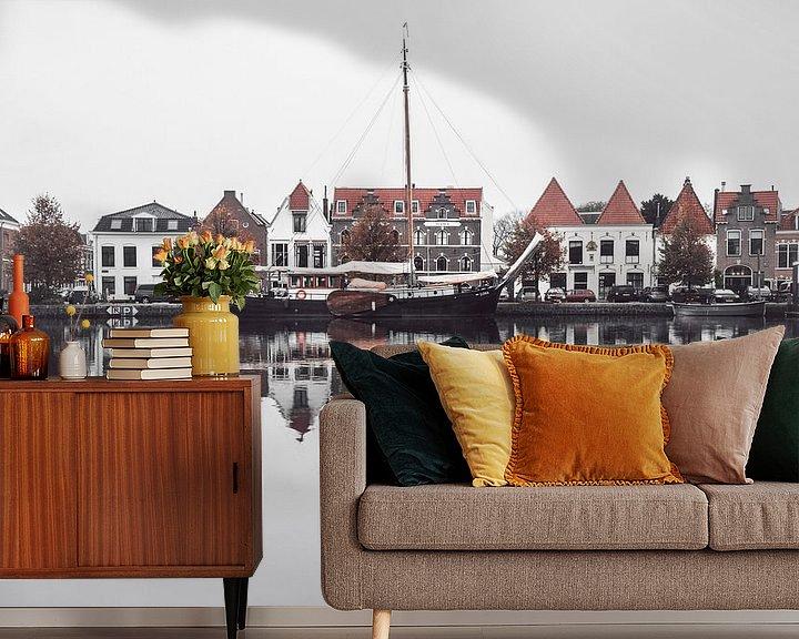 Beispiel fototapete: Haarlem: Spaarne reflecties. von Olaf Kramer