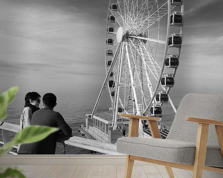 Impression: Seascape in Scheveningen sur Raoul Suermondt