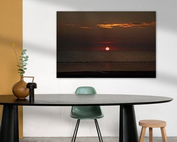 Zonsondergang Strand Rockanje. von Mark Nieuwkoop