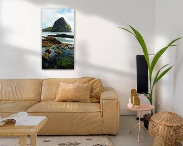 Piha Beach, Auckland - New Zealand sur Van Oostrum Photography