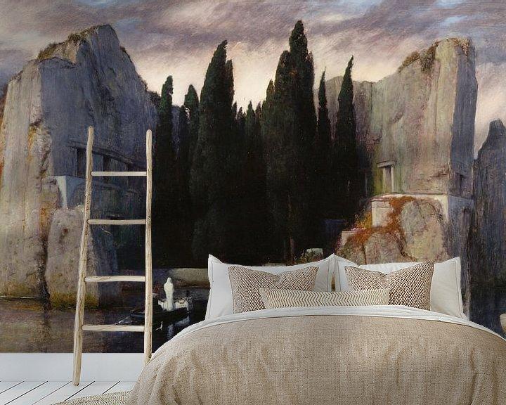 Beispiel fototapete: Arnold Böcklin. Die Toteninsel