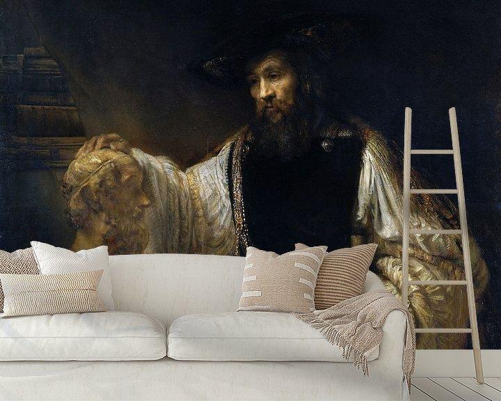 Beispiel fototapete: Rembrandt. Aristoteles mit einer Büste Homer