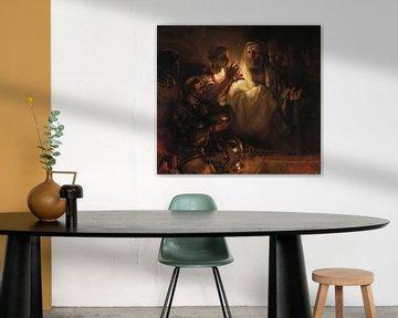 Rembrandt van Rijn. Die Verleugnung Petri