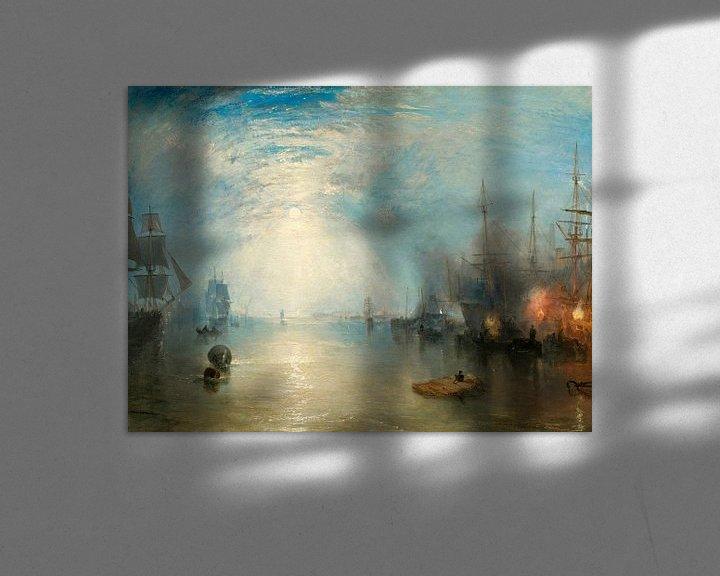Sfeerimpressie: William Turner. Keelmen Heaving in Coals by Moonlight