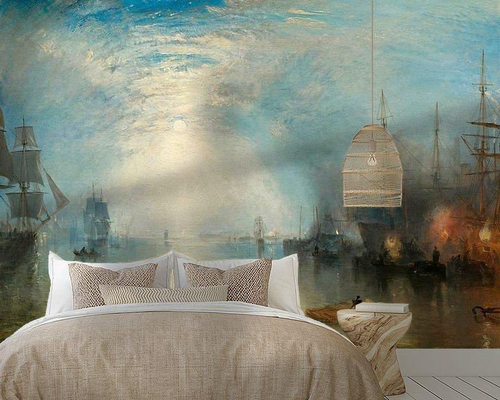 Sfeerimpressie behang: William Turner. Keelmen Heaving in Coals by Moonlight