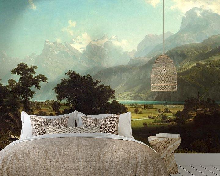 Beispiel fototapete: Albert Bierstadt. Lake Lucerne