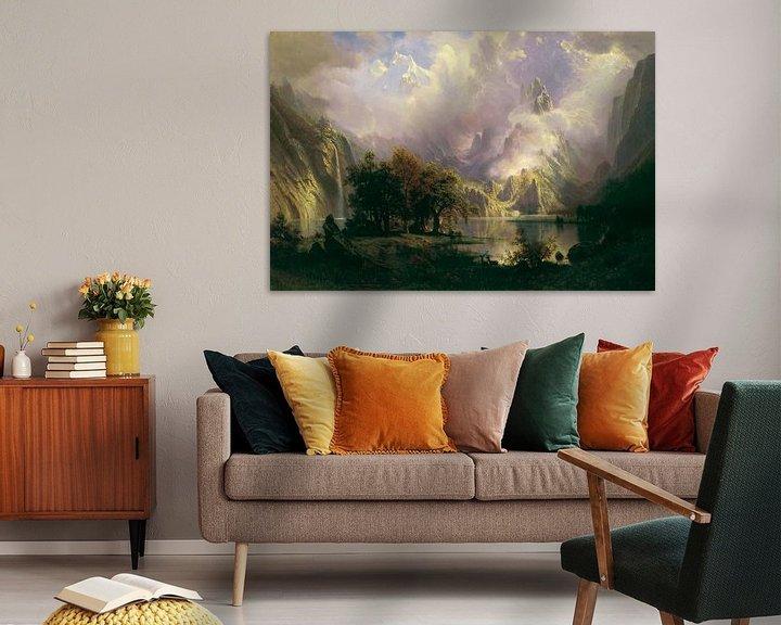 Beispiel: Albert Bierstadt. Rocky Mountain Landscape
