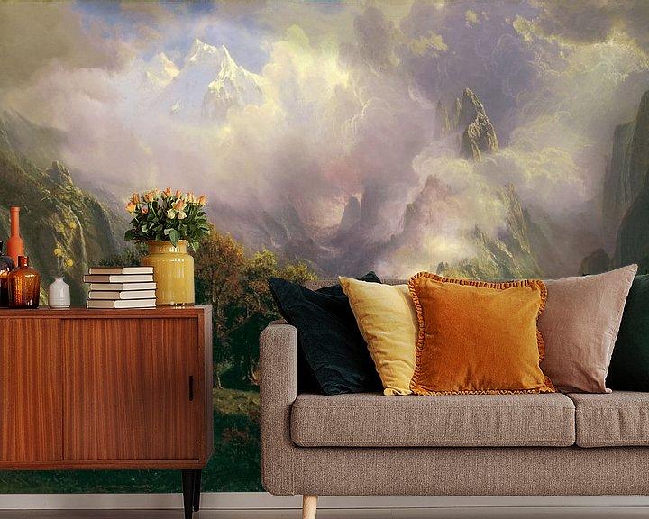 Beispiel fototapete: Albert Bierstadt. Rocky Mountain Landscape