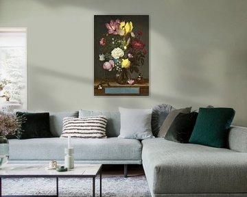 Ambrosius Bosschaert der Alte. Blumen in einer Glasvase