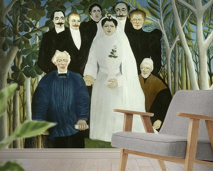 Beispiel fototapete: Henri Rousseau. The Wedding Party