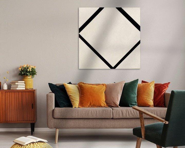 Beispiel: Piet Mondriaan. Composition No. 1_ Lozenge with Four Lines