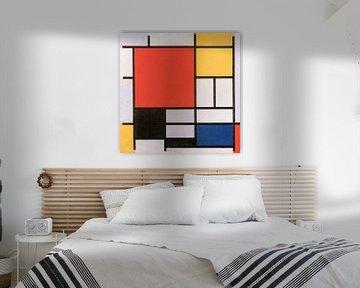 Piet Mondriaan. Composition en rouge, jaune, bleu et noir