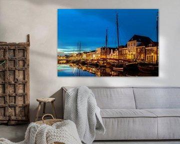De oude haven in Zwolle van Martin Bergsma