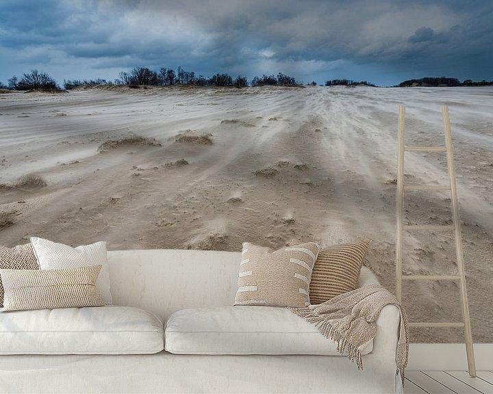 Sfeerimpressie behang: Storm - Loonse en Drunense Duinen van Laura Vink