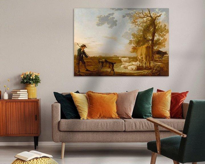 Sfeerimpressie: Albert Cuyp. Landschap met vee