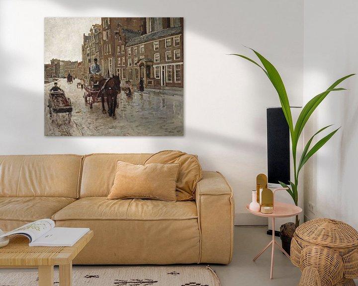 Sfeerimpressie: George Hendrik Breitner. Rokin met de Nieuwezijdskapel, Amsterdam