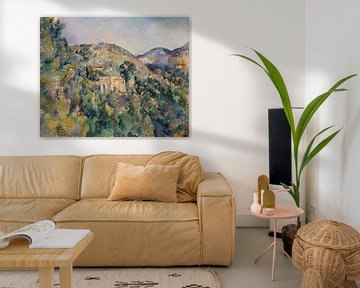 Paul Cézanne. Gezicht auf Domaine Saint-Joseph