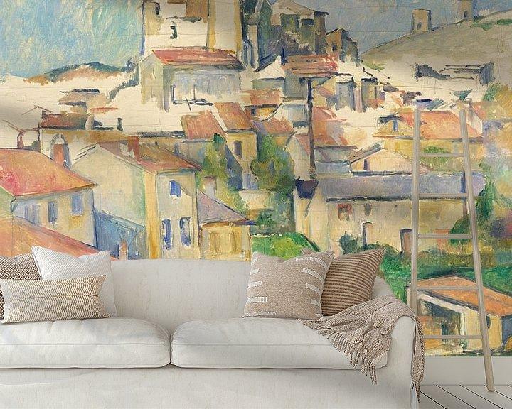 Sfeerimpressie behang: Paul Cézanne. Gardanne
