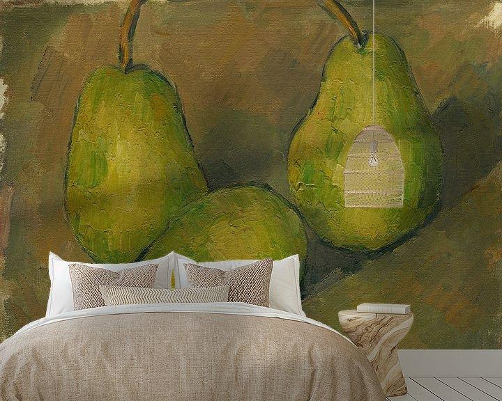 Sfeerimpressie behang: Paul Cézanne. Drie Peren