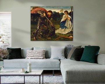 Edward Burne-Jones - Der Kampf-St George tötet den Drachen