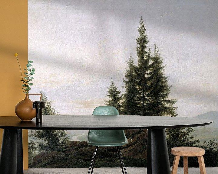 Sfeerimpressie behang: Caspar David Friedrich. Landschap