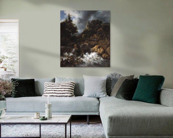 Sfeerimpressie: Jacob van Ruisdael - Waterval in een bergachtig noordelijk landschap