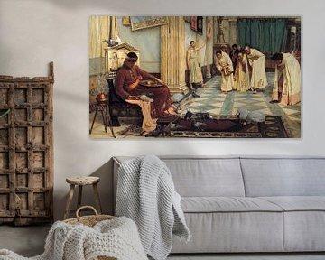 J. W. Waterhouse - The favourites of the Emperor Honorius