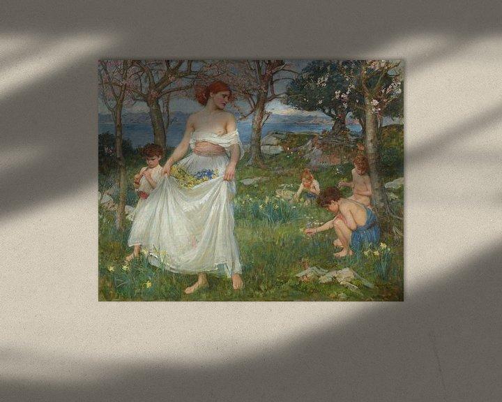 Sfeerimpressie: John William Waterhouse - A Song of Springtime