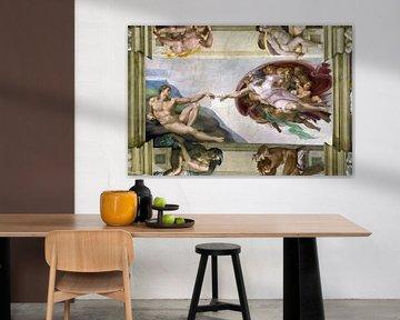 Michelangelo Sixtinische Kapelle, Adams Schöpfung
