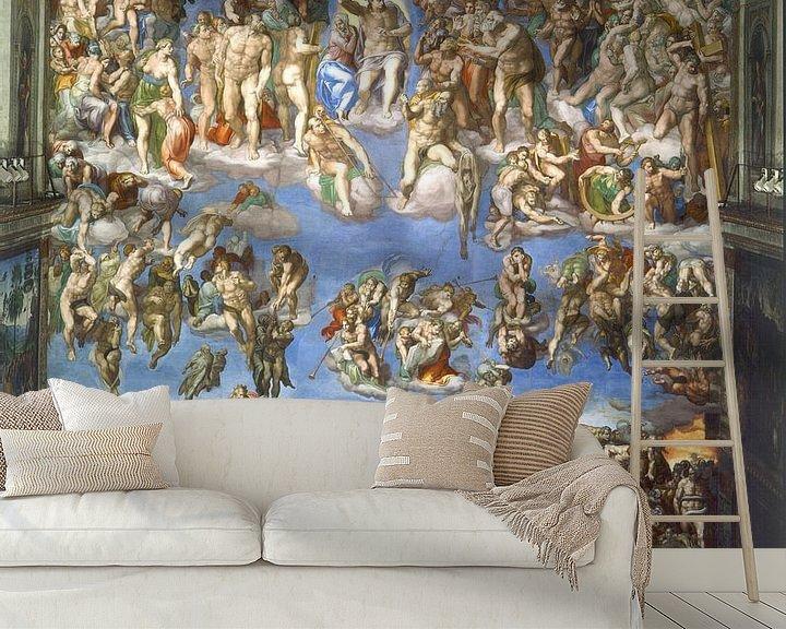 Sfeerimpressie behang: Michelangelo. Sixtijnse Kapel, Laatste oordeel