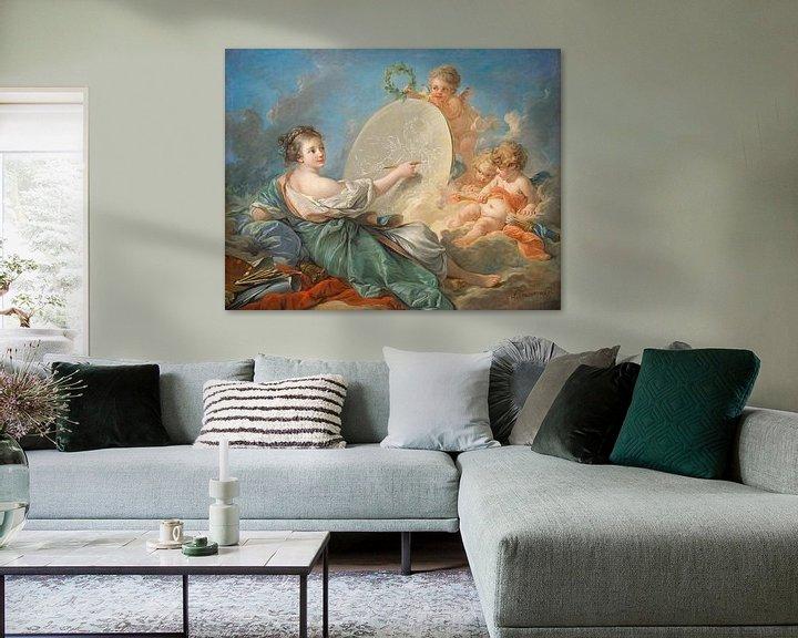 Sfeerimpressie: François Boucher. Allegorie van de schilderkunst