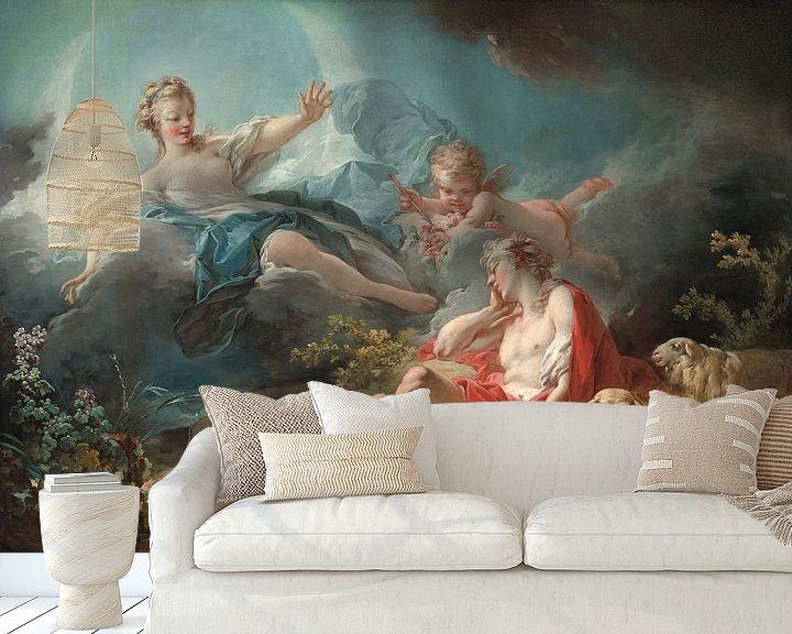 Sfeerimpressie behang: Antoine Watteau. Diana and Endymion