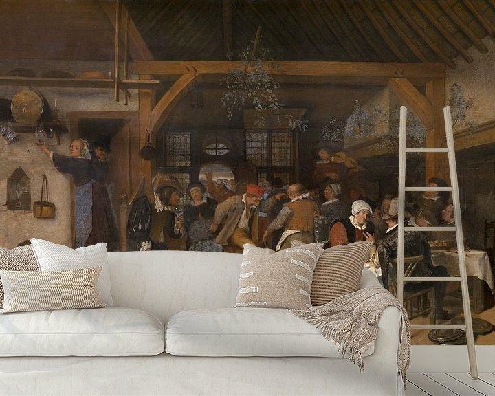 Sfeerimpressie behang: Jan Steen - Huwelijksfeest