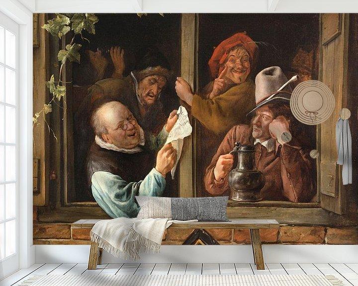 Sfeerimpressie behang: Jan Steen. Retorici bij een raam