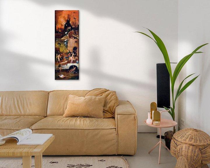 Sfeerimpressie: Jheronimus Bosch. De Hooiwagen, rechterpaneel