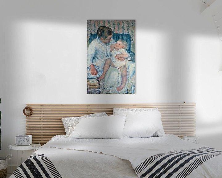 Beispiel: Mary Cassatt. Mother About to Wash Her Sleepy Child