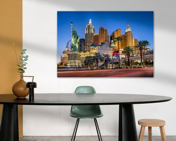 Las Vegas Strip met het New York New York hotel van Edwin Mooijaart