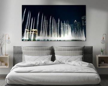 The Dubai Fountain, Burj Khalifa - Dubai van Van Oostrum Photography