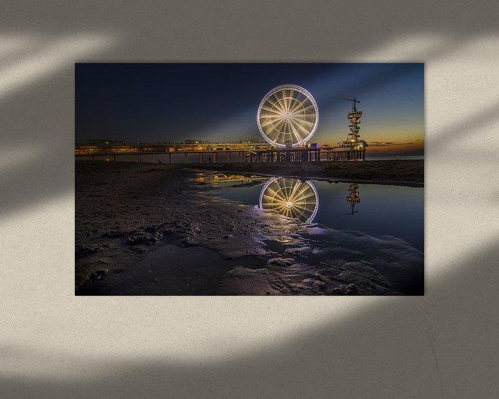 Sfeerimpressie: Reuzenrad op de pier van Scheveningen (2) van Jos Harpman