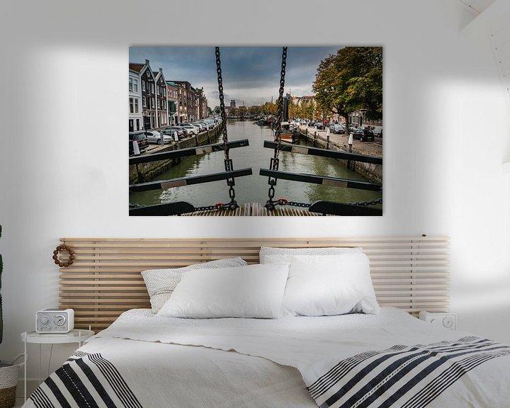 Sfeerimpressie: Dordrecht vanaf de Damiatebrug van Mirjam Boerhoop - Oudenaarden