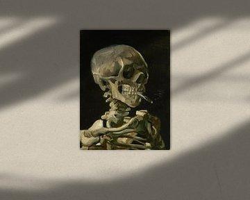 Skelett mit brennender Zigarette - Vincent van Gogh